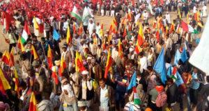 दिल्ली में किसान आन्दोलन, कर्ज माफी सहित अन्य मांगो को लेकर पैदल मार्च