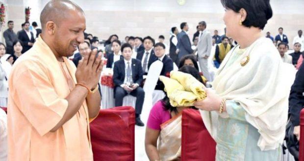 सीएम योगी का रामनगरी को बड़ी सौगात, कोरिया की प्रथम महिला हुई शरीक